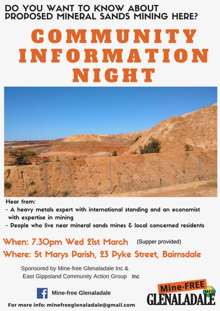 Info Night 21 Mar poster
